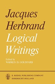 Cover of: Logical Writings | Jacques Herbrand