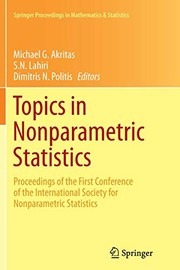 Cover of: Topics in Nonparametric Statistics