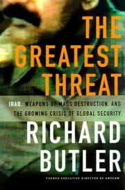 Cover of: The Greatest Threat | Richard Butler
