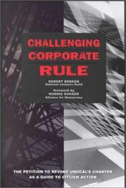 Challenging corporate rule by Robert W. Benson