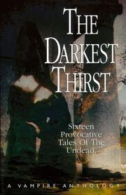 Cover of: The darkest thirst |