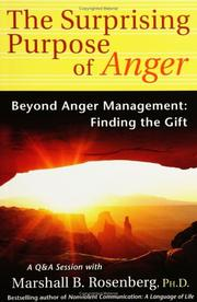 Cover of: The Surprising Purpose of Anger: Beyond Anger Management