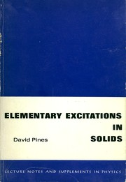 Cover of: Elementary excitations in solids