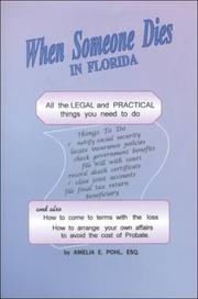 Cover of: When someone dies in Florida