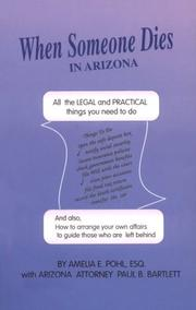 Cover of: When Someone Dies in Arizona