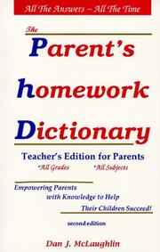 Cover of: Parent's Homework Dictionary | Dan McLaughlin, Dan J. McLaughlin