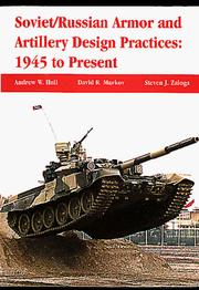 Cover of: Soviet/Russian Armor and Artillery Design Practices | David R. Markov