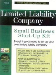 Cover of: Limited liability company: small business start-up kit