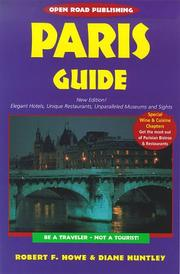 Paris Guide by Robert F. Howe, Diane Huntley, Robert Howe