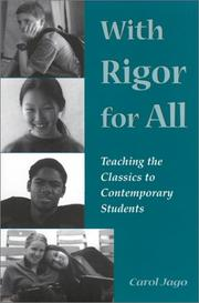 Cover of: With Rigor for All: Teaching the Classics to Contemporary Students