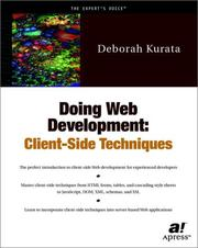 Cover of: Doing Web development | Deborah Kurata