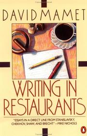 Cover of: Writing in restaurants