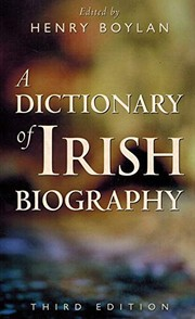 Cover of: A Dictionary of Irish Biography | Henry Boylan
