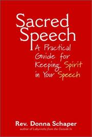 Cover of: Sacred Speech