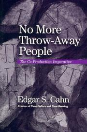 Cover of: No more throw-away people
