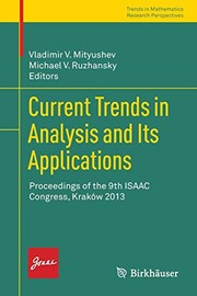 Cover of: Current Trends in Analysis and Its Applications