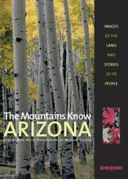 Cover of: The mountains know Arizona
