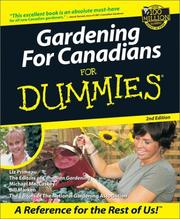 Cover of: Gardening for Canadians for Dummies | Liz Primeau
