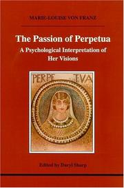 Cover of: The passion of Perpetua
