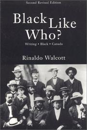Cover of: Black like who?