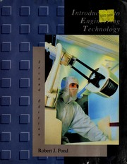 Cover of: Introduction to engineering technology | Robert J. Pond