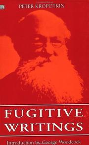 Cover of: Fugitive writings