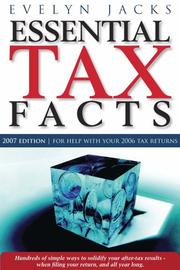 Cover of: Essential Tax Facts 2007 Edition | Evelyn Jacks