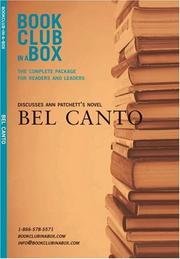 Cover of: Bookclub-In-A-Box Discusses the Novel Bel Canto by Ann Patchett