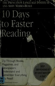 Cover of: 10 days to faster reading | Abby Marks-Beale