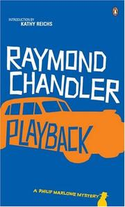 Playback (Novel) by Raymond Chandler