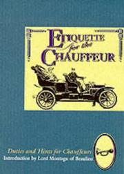 Cover of: Etiquette for the Chauffeur (The Etiquette Collection)