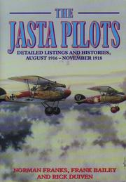 Cover of: JASTA PILOTS | Norman Franks