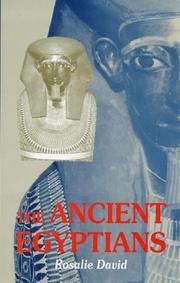 Cover of: The ancient Egyptians