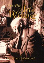 Cover of: On the art of writing