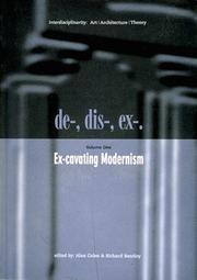 Cover of: Ex-cavating modernism |