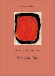 Cover of: Fraulein Else | Arthur Schnitzler
