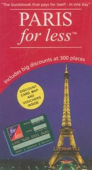 Cover of: Paris for Less (For Less Compact Guides) | Christina Prostano