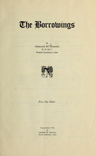 The borrowings by Adelaide May Harding