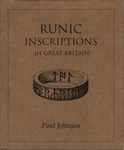 Cover of: Runic Inscriptions