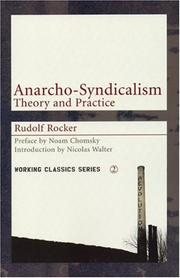 Cover of: Anarcho-syndicalism