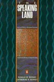 Cover of: Speaking Land | Ronald M. Berndt