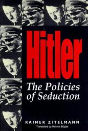 Cover of: Hitler | Rainer Zitelmann