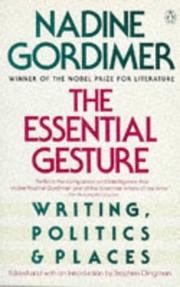 Cover of: The essential gesture