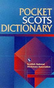 Cover of: Pocket Scots dictionary |