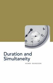 Cover of: Duration and simultaneity