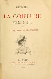 Histoire de la coiffure feminine