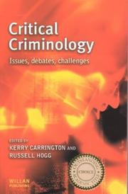 Cover of: Critical criminology |