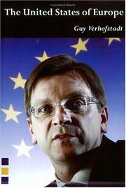 Cover of: The United States of Europe (The Federal Trust) | Guy Verhofstadt
