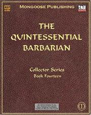 Cover of: The Quintessential Barbarian (Dungeons & Dragons d20 3.0 Fantasy Roleplaying) | Robert Schwalb
