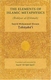 "Cover of: elements of Islamic metaphysics | MuhМЈammad HМЈusayn TМЈabaМ""tМЈabaМ""КјiМ"""